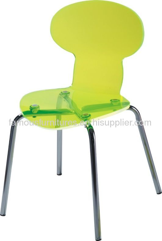 Popular Clear Ant Chair Dining Room Chairs Side Chairs Yellow Ghost Chairs