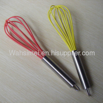 New Style silicone whisk with stainless steel handle