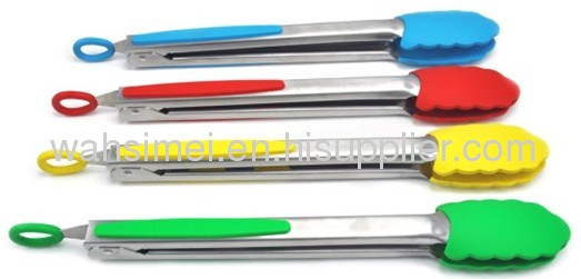 Silicone tongs for kitchen and BBQ