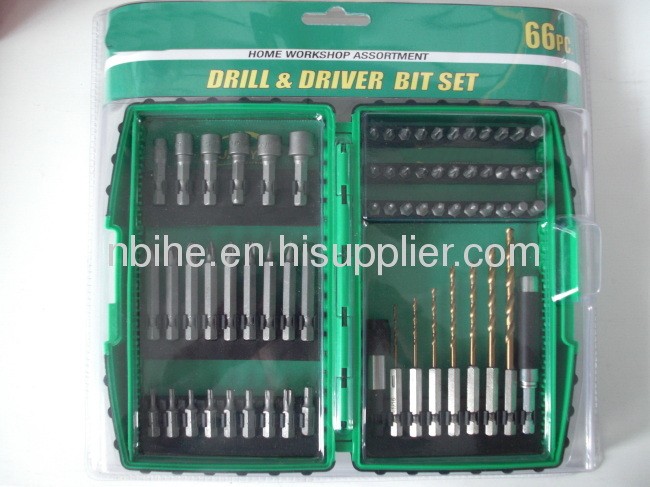 66pcs Combination Drill Bit Set