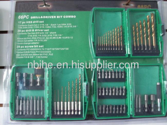60pcs Combination Drill Bit Set