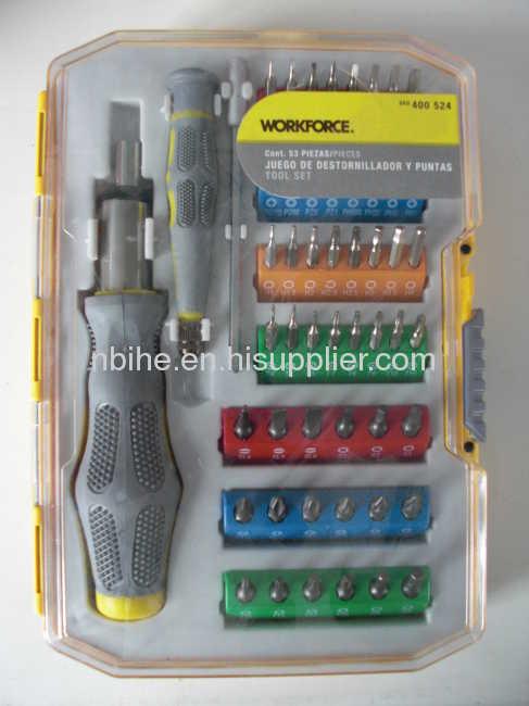 WORKFORCE Portable 53pc Electronic Tool Precision Screwdriver Set