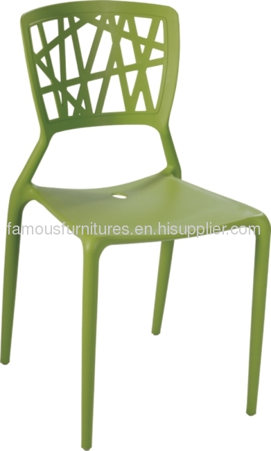 Modern Style Hollow back PP orange Supernatural side Chair dining kitchen outdoor furniture chairs