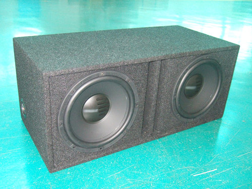 Carpet dual car speaker cabient