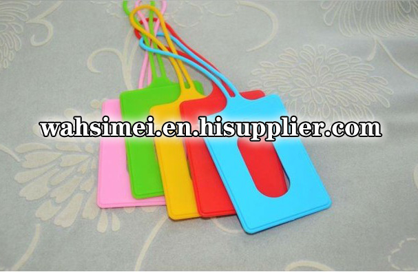 2012 Fashion new design silicone luggage card