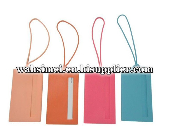 Silicone Name Card Holder for Luggage Bag