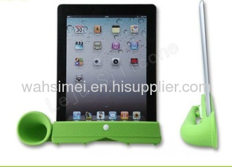 Wireless silicone ipad horn stander