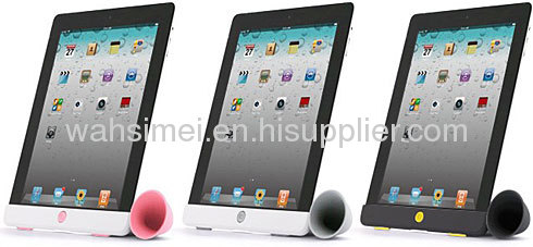 Silicon wareless ipad speaker horn