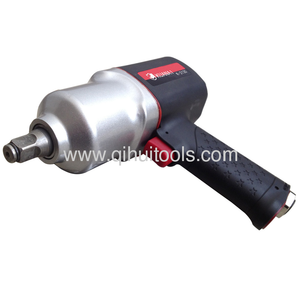 1/2SQ Drive Composite Heavy Duty Air Impact Wrench Twin Hammer Mechanism