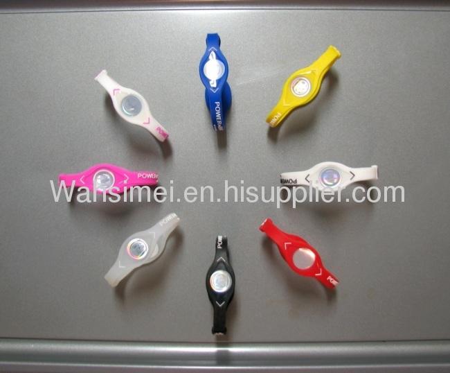 Fashion silicone wristband energy balance bracelets