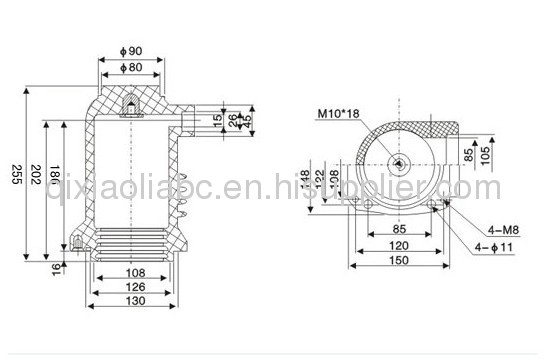 Isolation contact spout bushing