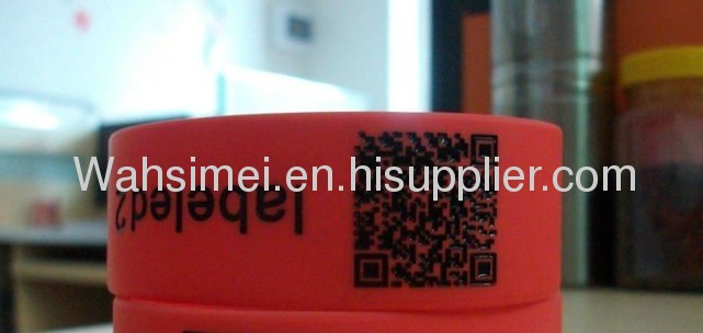 Stainless steel jewelry for silicone wristband for promotion