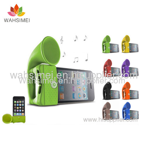 Silicon iphone horn for iphone 4/4S/5