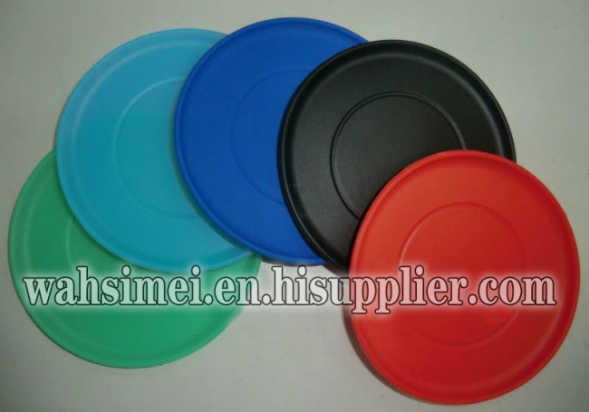 Silicone flying disc with logo print for fun