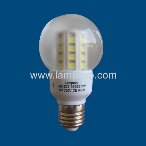 B60 E14 SMD5050 6W LED BULB