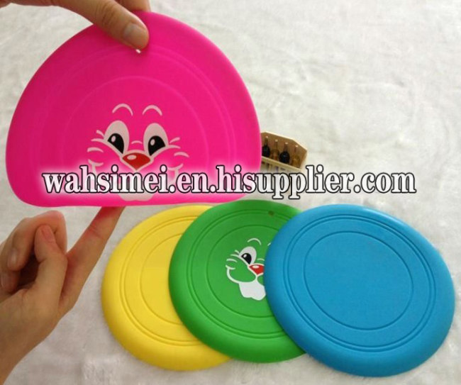Frisbee toys for children silicone flying disc