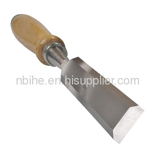 FSC certificate carbon steel wood chisel with wooden handle