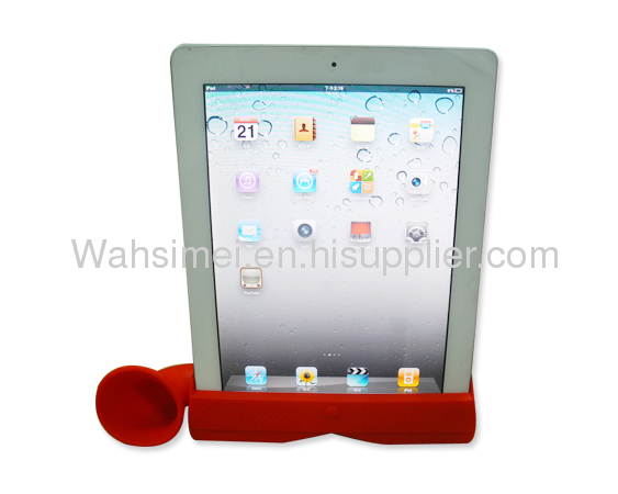 Fashion design silicone ipad horn in exist mold
