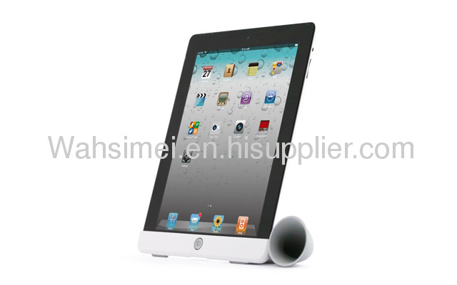 Silicone trumpet holder hot selling silicone ipad horn