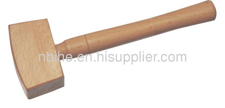 Wooden mallet hammer