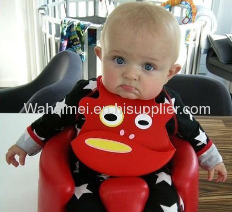 Duke Frog Silicone Baby Bib