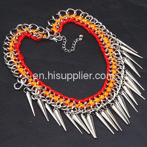 Handmade Gothic Punk Bib Tassel Necklace Fashion Jewelry