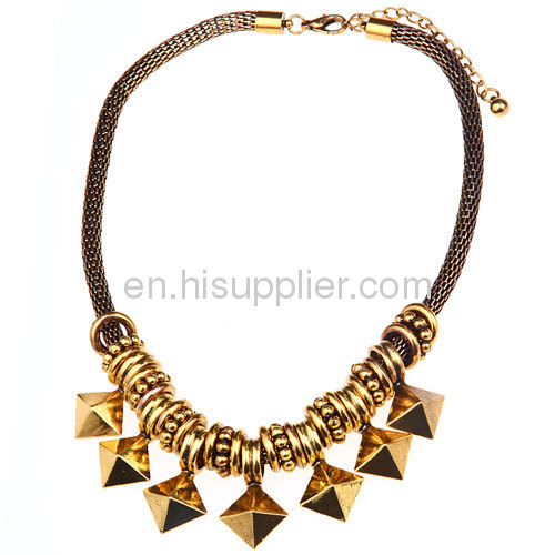 Fashion Punk Gothic Gold Plated Jewelry Snake Chain Necklace