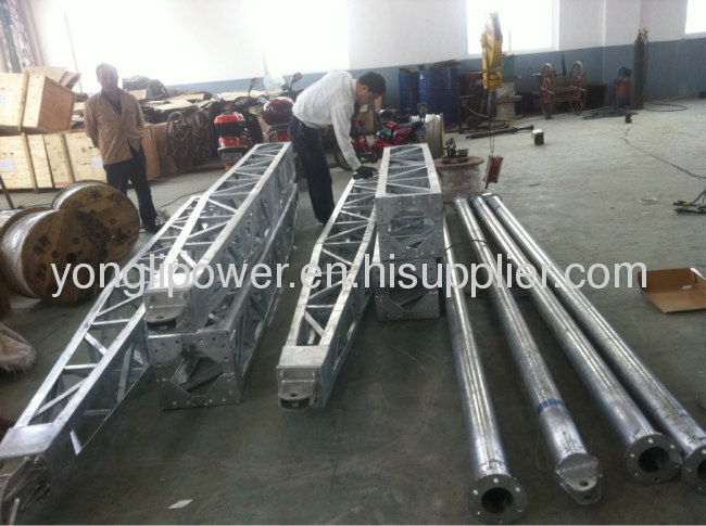 500 /600mm aluminum alloy inner -suspended lattice gin pole