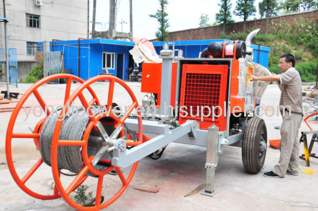 180KN linepull hydraulic pressure cable puller stringing equipment