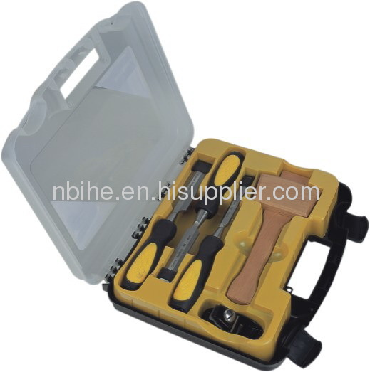 Metal Strike Cap All Purpose 3-Piece Chisel Set with Wallet Holder