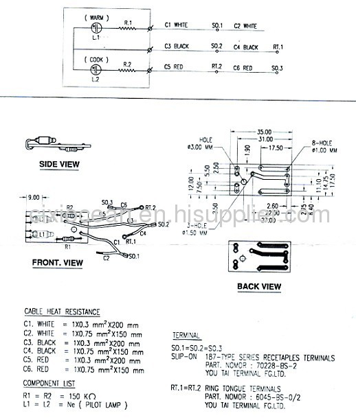 rice cooker wiring diagram images wiring a cooker gallery images and information electric cooker parts