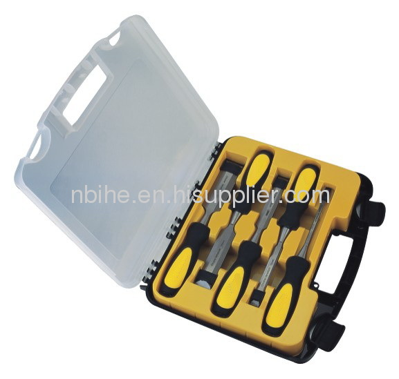 Metal Strike Cap All Purpose 5Piece Chisel Set with plastic inject box