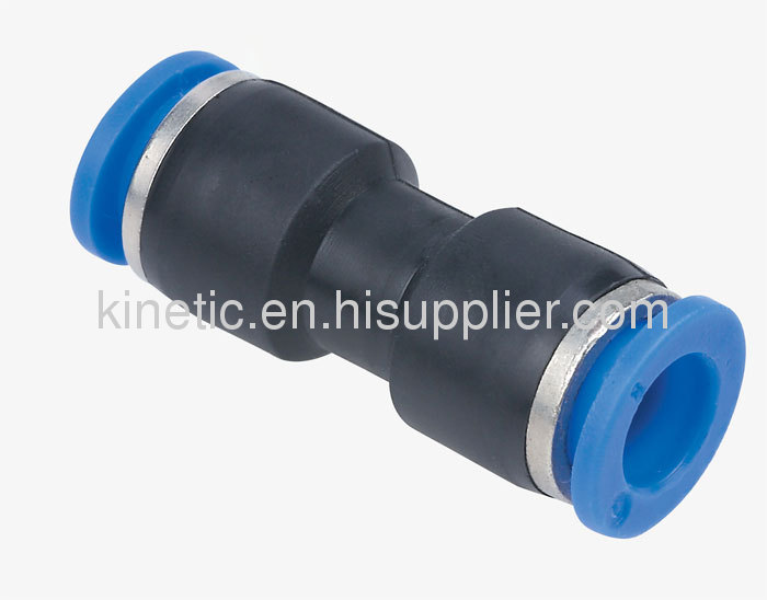 PUC push-in pneumatic fitting union straight connector