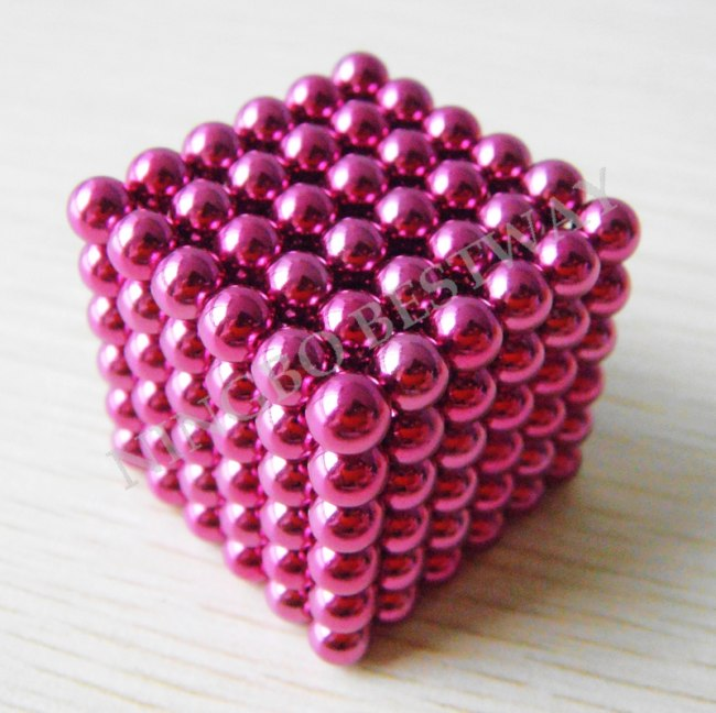 Pink Color Magnet Ball
