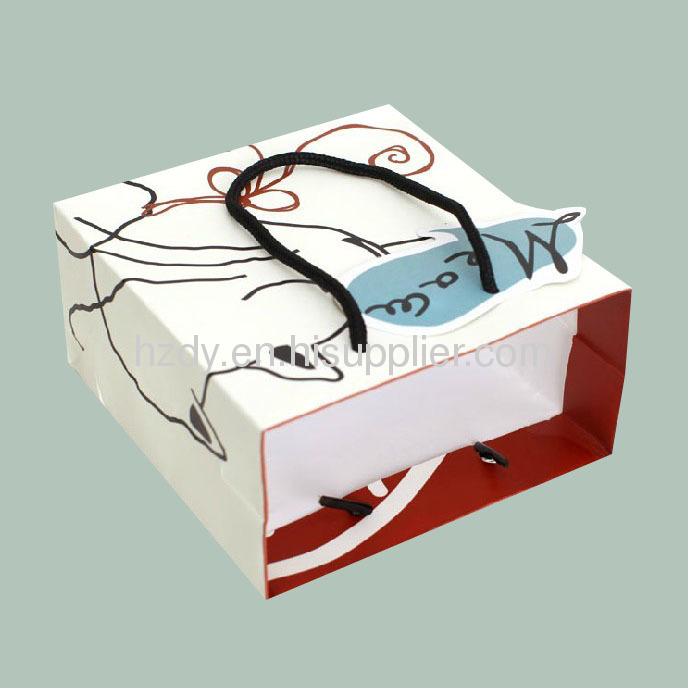 250g art paper personality paper bag for shopping or for gift