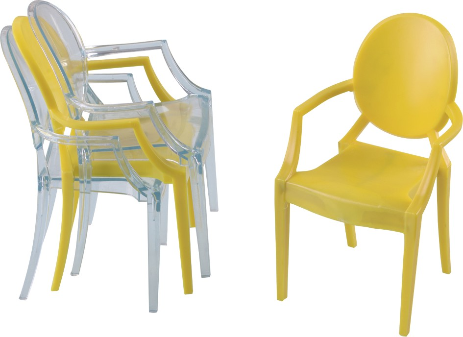 Crystal Plastic ergonomic Louis Ghost Chairchildren dining chairs