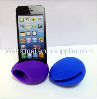 silicone iphone horn with mini shape for iphone 4/4s/5