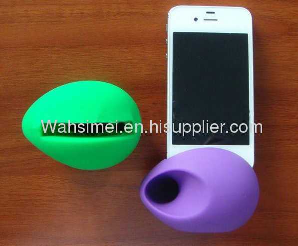 Silicone iphone Horn Speaker Amplifier for 4/5