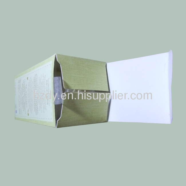 Top grade white card cosmetic box with UV with emboss