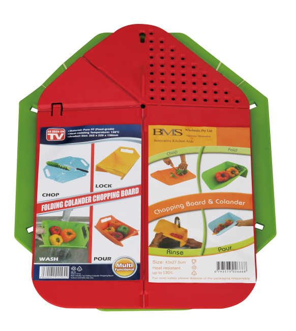 foldable chopping board block& washing basket set