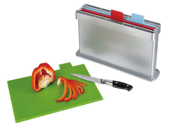 3pcs index chopping board, two sides knife shelves