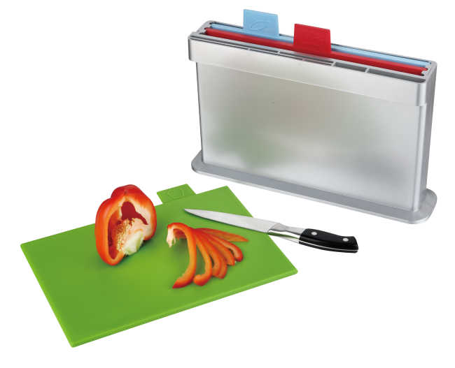 3pcs index chopping board, one side knife shelves
