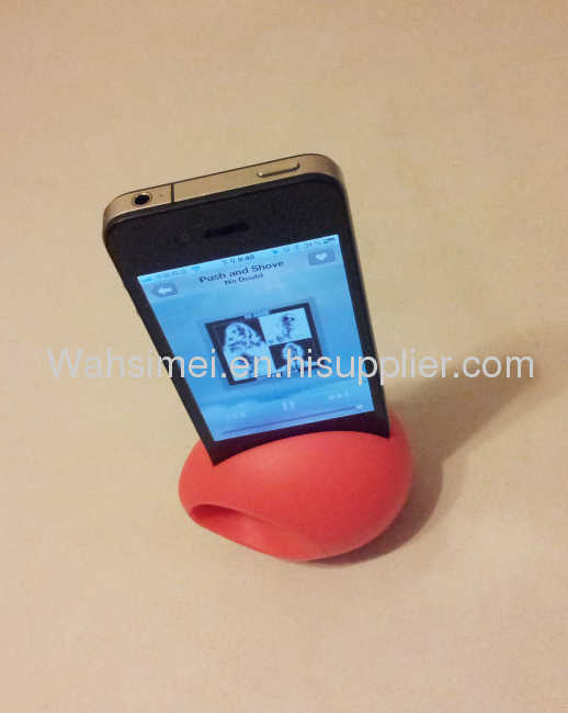 music eggsilicone audio amplifier for iphone4/4s,silicone iphone horn
