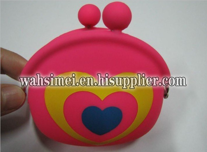 Silicon fashion coin purse for young lady