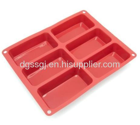 Silicone 6-cavity Mini Loaf Baking Pan