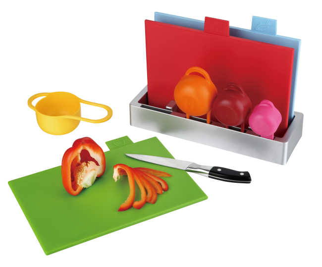 3pcs index chopping board with 4pcs measuring cup