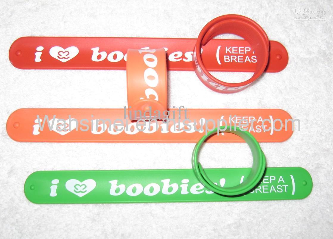 Hot Selling And High Quality Fashion Silicone Slap Bracelet