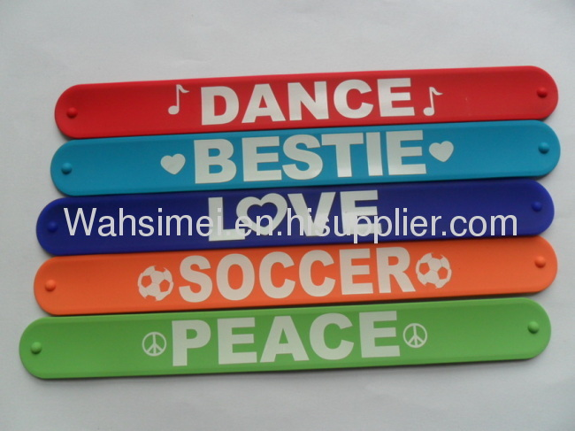 Hot Selling And High Quality Fashion Silicone Slap Bracelet