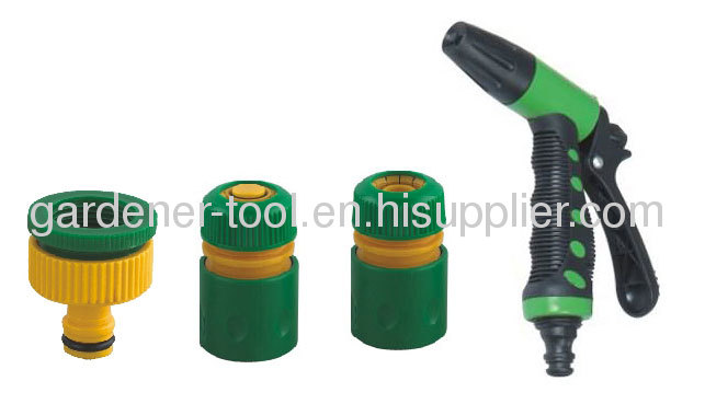 PVC Reinfoced Garden Water Hose With 2-Function Hose Nozzle Set
