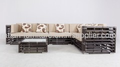 balcony furniture set rattan garden sofa